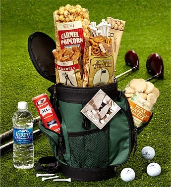 Cool Golf Bag Cooler with Snacks Gift Basket