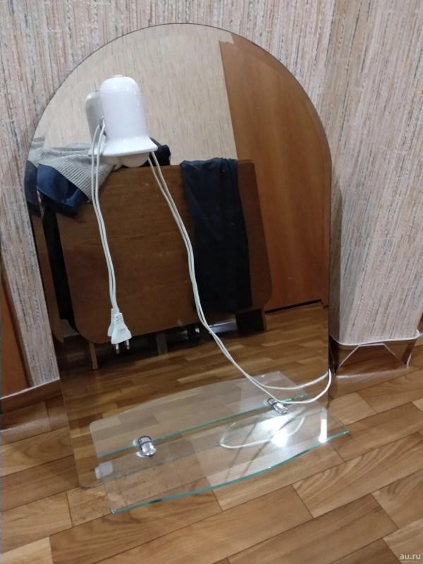 Зеркало с подсветкой и полкой — купить в Красноярске ...