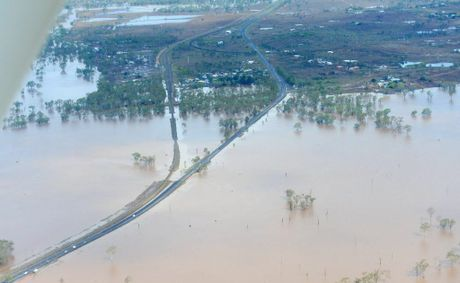 Bruce Highway. Images from the air - The big wet, Australia Day weekend around Rockhampton 2013. Photo Sharyn O'Neill / The Morning Bulletin