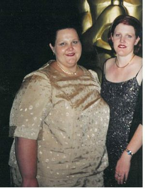 Michelle Goodwin before her weight loss.