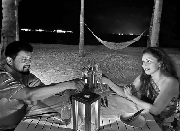 Madhuri Dixit enjoys a romantic candle lit dinner with husband in the Maldives : Bollywood News Moviesflix - MoviesFlix | Movies Flix - moviesflixpro.org, moviesflix , moviesflix pro, movies flix