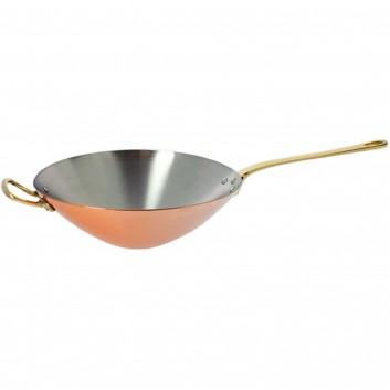 de buyer copper stainless steel and brass wok