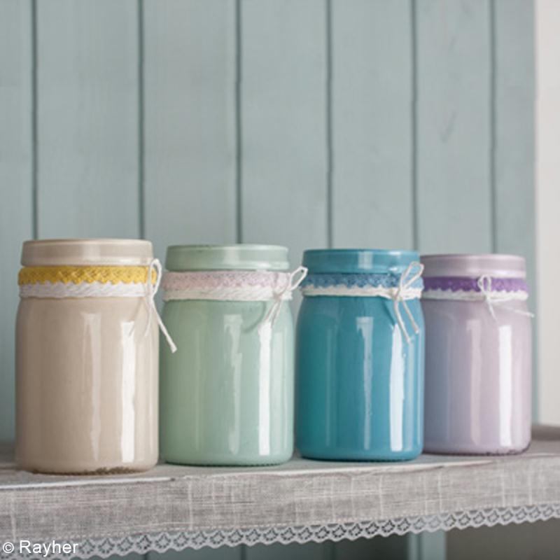DIY Dco Recycler Vos Pots En Verre Avec De La Peinture