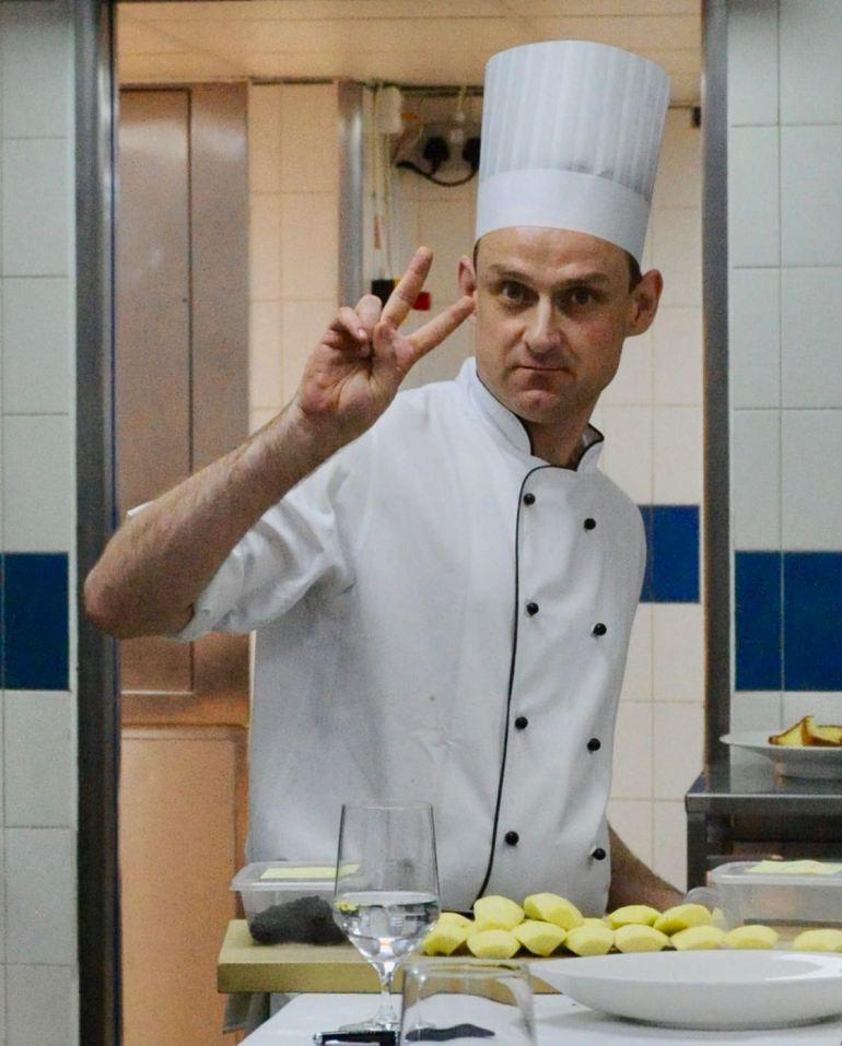 Ross Sneddon, Head Pastry Chef, Claridge's 2014. Under fyra timmar lärde han oss allt om traditionella brittiska efterrätter.