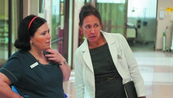 Alex Borstein and Laurie Metcalf run a dead-end (literally)  hospital  unit.