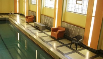 Art deco swimming pool at Hyde Parks Powhatan building.
