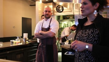 Chef Jake Bickelhaupt and his wife Alexa Welsh at 42 Grams, one of Chicago magazines top picks.