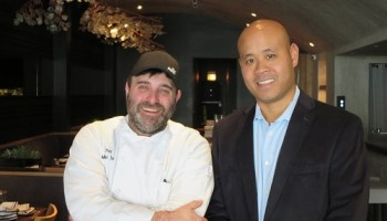 Chef Michael Taus and beverage director Don Sritong of Coppervine.