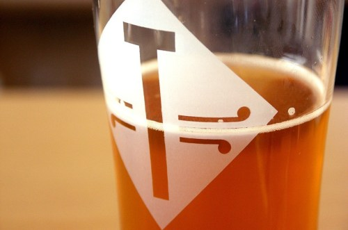 Classy logo, Temperance! This beer is Threeway American-style IPA, available only at three spots in Evanston: Temperance, SPACE, and Union Pizzeria.
