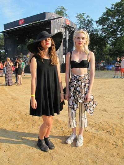 Dailan and Abigail. Dailan came to see: Grimes. Why this outfit:  Because I like my sunhat, and its all comfortable. I like to wear just black. Abigail came to see: Neutral Milk Hotel. Why this outfit? Because its comfortable and visually interesting.