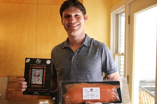 Ethan Forman with a few of his familys products.