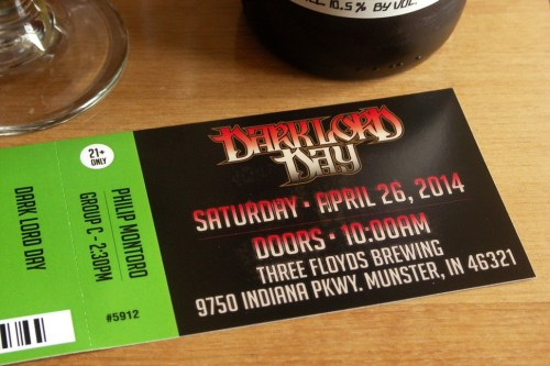 I buy my Dark Lord Day ticket like everybody else, one leg at a time.