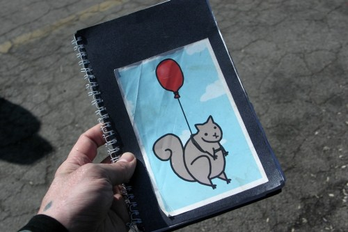 If youre going to try to write shit down at Dark Lord Day, its important to bring your most metal notebook.