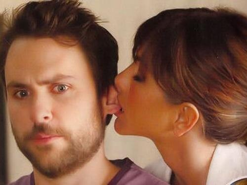 Jennifer Aniston mistakes costar Charlie Day for a free meatball.