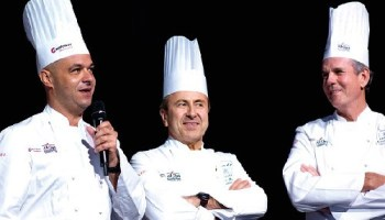 Jerome Bocuse, Daniel Boulud and Thomas Keller at the Bocuse d'Or.
