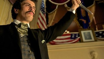 John Wilkes Booth making his surprise cameo in Our American Cousin.