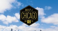 Just a giant Best of Chicago logo flying through the sky, no big deal.