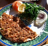 Lahmacun: you might want to have some breath mints on hand