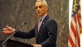Mayor Rahm at this mornings City Council special meeting