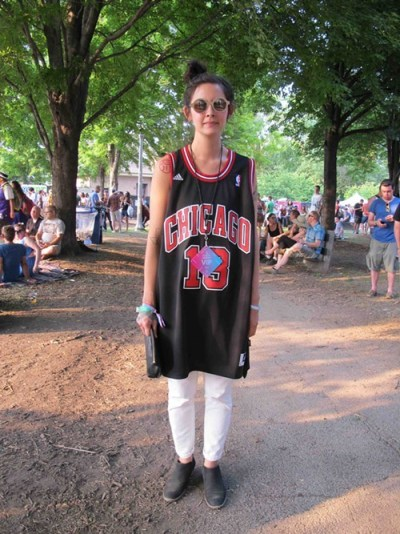 Michelle. Came to see: I have no idea (I hear you, sister!). Why this outfit? Because I love the Bulls and its comfortable.