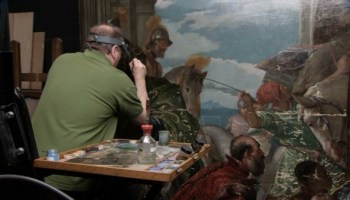 One of the art restorers featured in Wisemans National Gallery