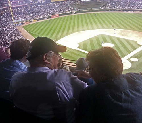 Quinn doesnt ordinarily look down on Chicagoans, but he does at Sox games.