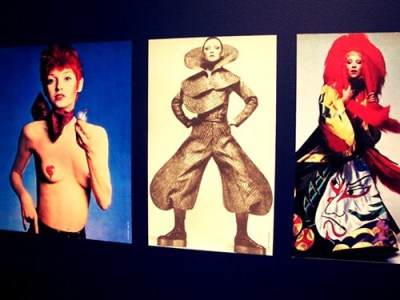 Sources of inspiration for the Ziggy Stardust hair and costume.