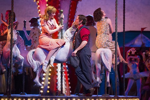 The giddy beginning: Laura Osnes and Steven Pasquale as Julie Jordan and Billy Bigelow