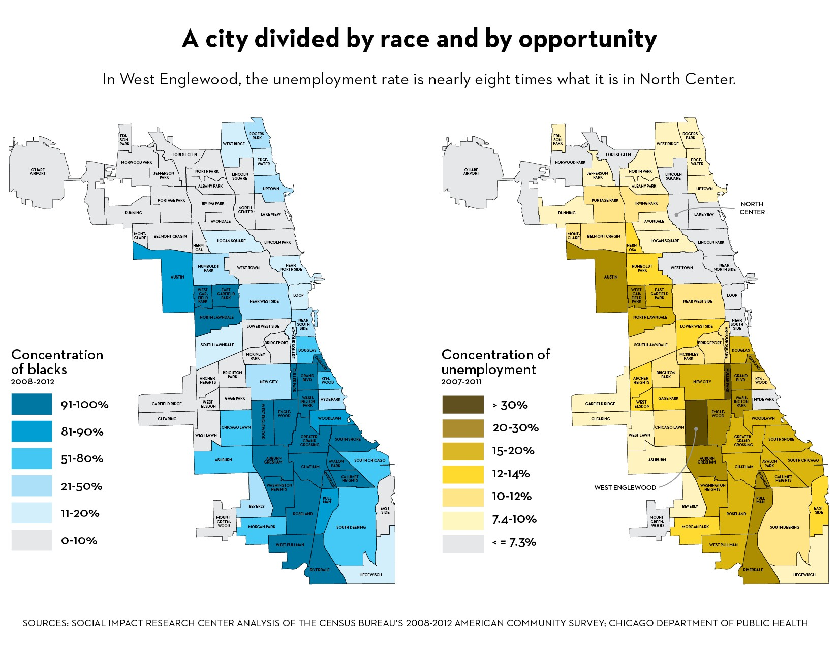 Image result for hypersegregated chicago map