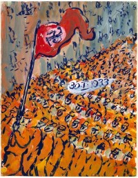 The Nazis march to the Horst-Wessel-Lied.