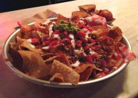 The terrifying plate of giant nachos