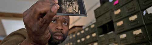 Theaster Gates married his artistic talent with his civic responsibility when he turned an abandoned home into a library and archive that houses 60,000 slides, 14,000 books, and 8,000 albums.