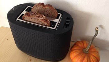 Toaster, with toast, at Baker Miller Bakery & Millhouse