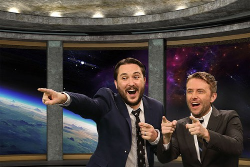 Wil Wheaton and Chris Hardwick, nerds and proud of it