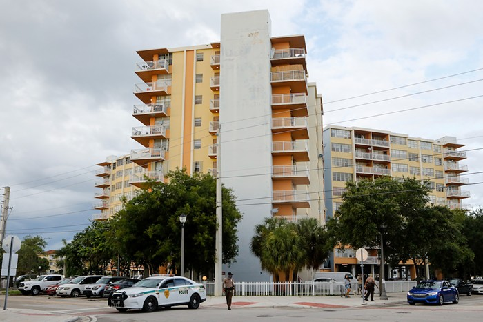 Residents were evacuated from Crestview Towers due to structural and electrical concerns.  - PHOTO BY EVA MARIE UZCATEGUI / GETTY IMAGES