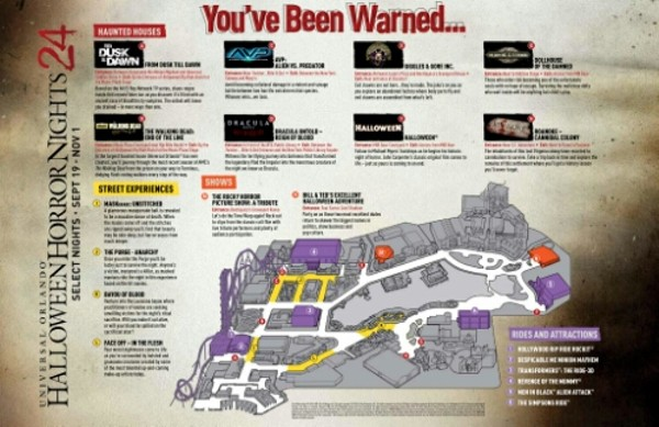 Halloween Horror Nights 24 map surfaces online   Blogs Image via Behind the Thrills
