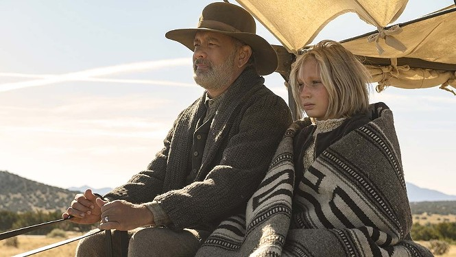 Tom Hanks and Helena Zengel in News of the World - UNIVERSAL PICTURES
