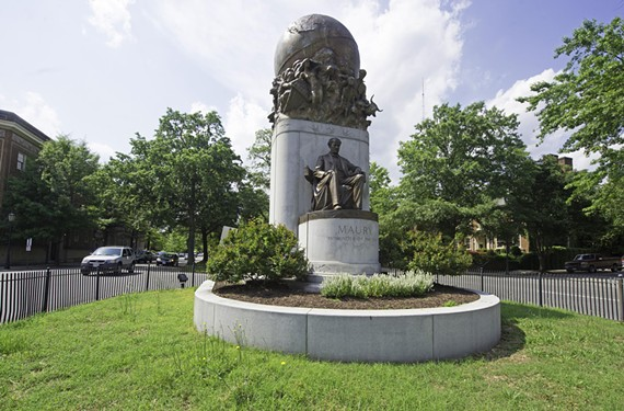 The 1929 statue of Matthew Fontaine Maury, an oceanographer and Confederate naval officer, represents a softer, intellectual approach to the Southern cause. Thirty-seven years later, Richmond proposed honoring a woman on Monument Avenue. - SCOTT ELMQUIST