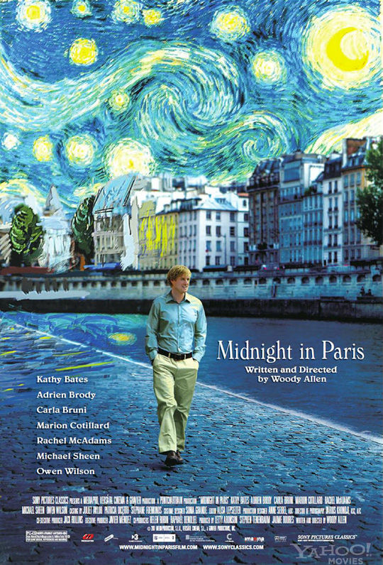 Woody Allen's Midnight in Paris Poster