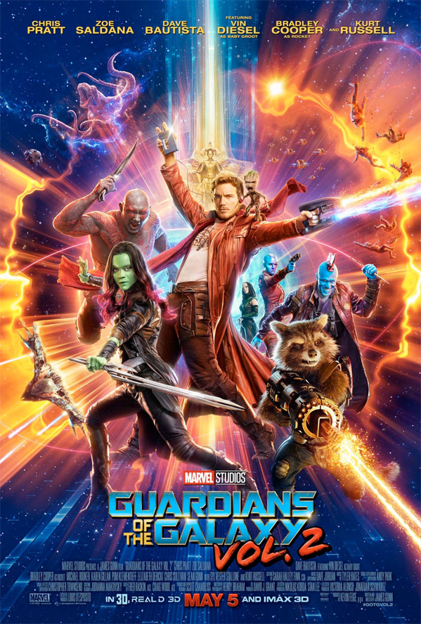 Guardians of the Galaxy Vol. 2  Third Trailer Lands for James Gunn's 'Guardians of the Galaxy Vol. 2' GuardiansofGalaxyvol2posterfin5994
