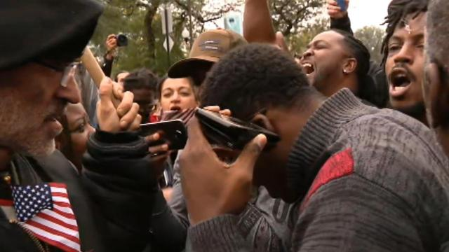 Crowd outside courthouse reacts to Jason Van Dyke verdict
