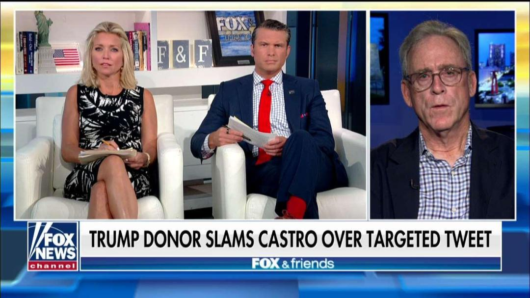 Trump donor from Texas on being outed by Joaquin Castro: We won't be called racists 'without fighting back.'