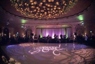 opulent monogrammed dance floor
