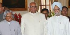 Abul Kalam, Somnath Chatterjee and Manmohan Singh