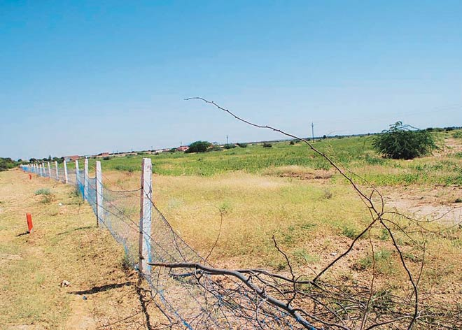This land, currently meant for a solar power project, belonged to Vadra.