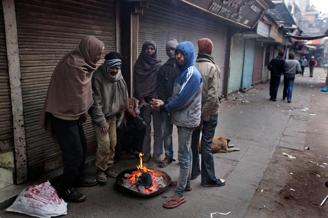 Brute cold in north India