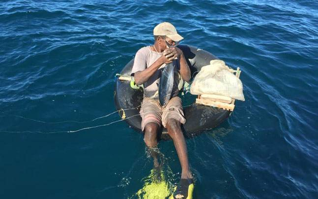 Image result for man in middle of ocean