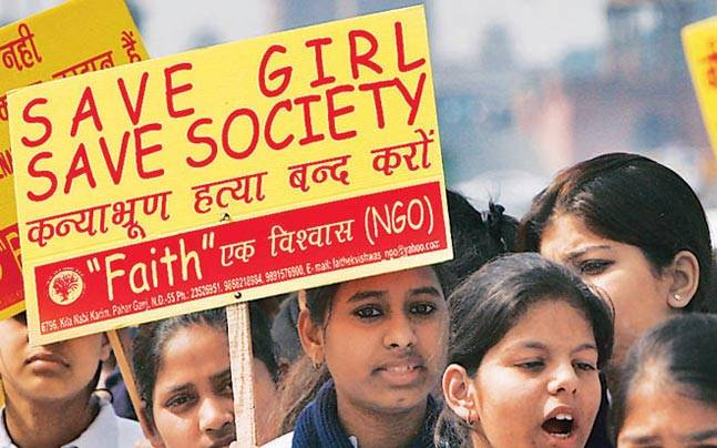 Protest against female foeticide