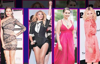 Deepika Padukone, Beyonce Knowles, Lisa Ray and Madonna