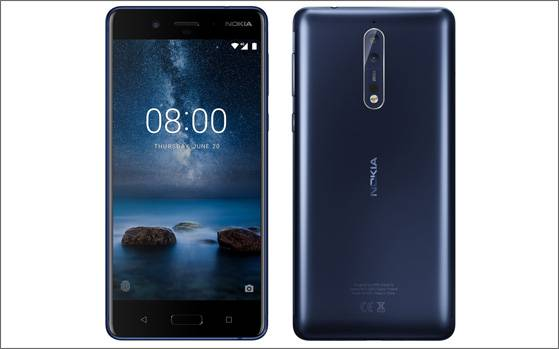 Image result for Nokia 8 smartphone with dual rear cameras to launch in India today